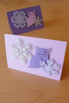 2012 Gift of winter Owl / Christmas Card