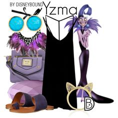 Yzma by leslieakay on Polyvore featuring RVCA, Miz Mooz, Nicole By Nicole Miller, Aamaya by priyanka, First People First, disney, disneybound and disneycharacter