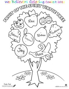 Fruits of the Spirit Coloring Page | Pinterest | Sunday school ...