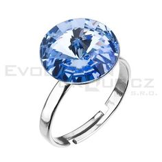 Prsten se Swarovski ELEMENTS 35018.3 light sapphire