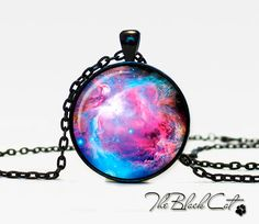 Orion Nebula pendant  Nebula  jewelry Galaxy necklace Orion Nebula  universe pendant for men - So gorgeous. $12.95, I don't think this is just for men. i'd wear it.