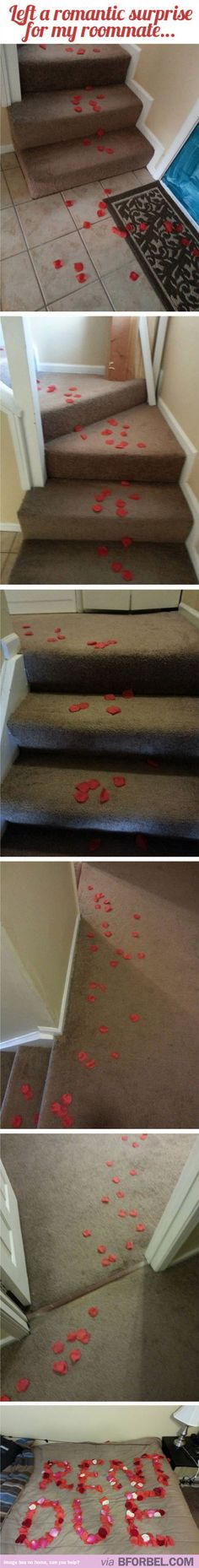 How to leave a romantic surprise for your roommate #college #friends