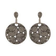 Carole Shashona Pavé Black Diamond Lotus Reflections Earrings