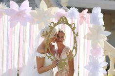 Hélène & JeanStephan   Film & Photography - @mariemarrymeinc   Gown - @rosaclara   Wedding Planner & Designer - @HappilysEvents #muted #golden #decor #photobooth#pose#wedding #mariage #bridesmaids #pastel#mariemarryme #happilysevents #châteaupuyrobert