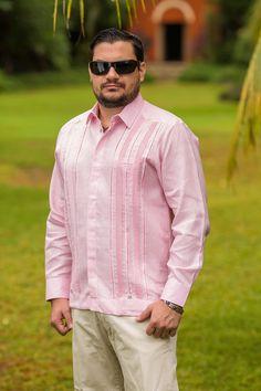 Modelo Rafael Rosa 100% Lino Tropical Fashion, Shellac, Pink And Gold, Casual Shirts, Shirt Designs, Men Casual, Mens Fashion, Shirt Dress, Suits