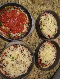 Personal Pan Pizza Recipes  LOVE it!