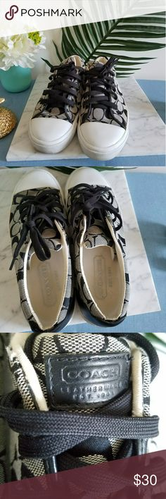 Coach C-Logo Woman's Sneakers Coach Logo Sneakers Size 9.5. Gently used and in pristine condition. COACH Shoes Sneakers