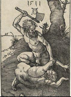 Cain kills Abel is one of artworks by Albrecht Dürer. Medieval Art, Renaissance Art, Albrecht Durer Paintings, Tarot, Photo Mug, Canvas Prints, Art Prints, Faber Castell, Vintage Wall Art