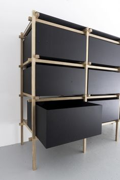 STUDIO RENE SIEBUM | DRESSER Custom made dresser for a private client. Simplicity reduced to its details. #dresser #design #dutchdesign #architectural #constructed #furniture #black