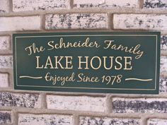 Personalized Carved Sign