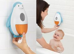 Skip Hop Soapster – bath time fun with a penguin!
