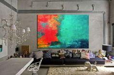 Você já pensou em usar quadros abstratos na decoração? Se logo você já pensa que nem entende o que está retratado na imagem é hora de deixar esse paradigma de lado, afinal a ideia