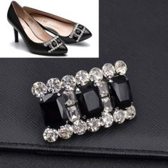 3499 watch now httpvizdujustgoodvigitempt 1 pc black crystal shoe clip bridal high heel buckle decor removable beauty multi solutioingenieria Choice Image