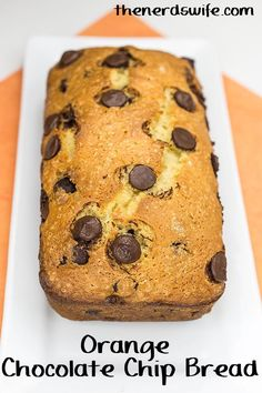 Orange Chocolate Chip Bread.   My family loves this Orange Chocolate Chip Bread, which features our favorite Tampico Citrus Punch for an extra punch of flavor.  Fall is right around the corner, and I've found myself drawn to the kitchen more and more. Baking yummy treats is one of my favorite things to do once the weather cools off.