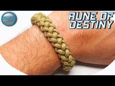 How to make Paracord Bracelet Rune of Destiny World of Paracord Tutorial DIY Macrame Bracelet Paracord Bracelet Designs, Macrame Bracelet Diy, Bracelet Knots, Paracord Projects, Bracelet Crafts, Paracord Bracelets, Nut Bracelet, Survival Bracelets, Paracord Tutorial
