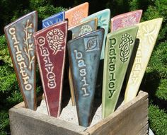 Cute and practical.    //Garden Plant Stakes