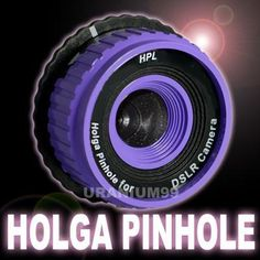 Holga Pinhole Lens in Purple for Canon DSLR