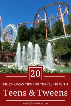 Taking older kids on a family vacation? Here are 20 tips for traveling with teens and tweens to ensure your entire family has a great trip!