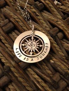 My life my journey necklace. $72.00, via Etsy.