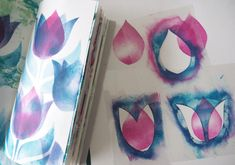 Origami, Stencils, Abstract, Artwork, Studio, Kindergarten, Stamps, Patterns, Tutorials