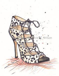 Jimmy Choo Heel  Art Print 8x10 by claireswilson on Etsy, $20.00