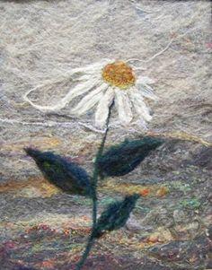 No407 Daisy  Needlefelt Art Large by Deebs on Etsy