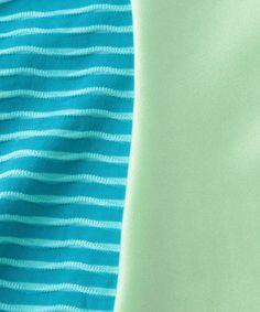 【<Seea>Riviera ONEPIECE/水着】細ボーダーと無地のコンビでメリハリを付けたワンピースタイプの水…