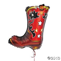 Cowboy Boot-Shaped Mylar Balloon LG was attracted to this. Seriously? $7 for ONE balloon?