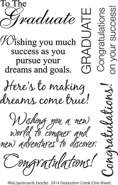 My Sentiments Exactly Rub-Ons-Graduation Cards Supplier