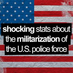 Shocking stats about the militarization of the US police force... http://guidetoprepping.com/shocking-stats-about-the-militarization-of-the-us-police-force/