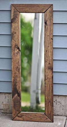 Miroir avec bois de palette