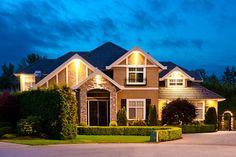 landscaped large single-family house