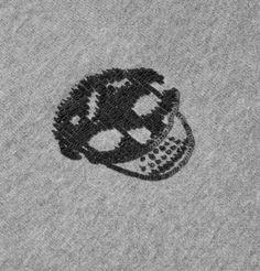 Alexander McQueen Sequin-Skull Loopback Cotton Sweater