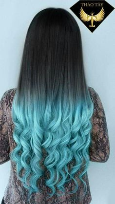 Are you looking for dark blue hair color for ombre and teal? See our collection full of dark blue hair color for ombre and teal and get inspired! Hot Hair Colors, Hair Color Blue, Cool Hair Color, Hair Color For Kids, Hair Color Tips, Light Blue Ombre Hair, Turquoise Hair Ombre, Black Hair Ombre, Ombre Hair Color