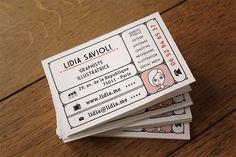 Carte de Visite - Ticket to Ride by Lidia Savioli in Showcase of 50 Creative Business Cards Business Card Design, Creative Business, Mise En Page Magazine, Name Card Design, Bussiness Card, Name Cards, Packaging Design Inspiration, Portfolio Design, Creative Design