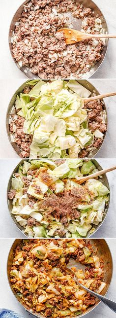 Fried Cabbage with Sausage Skillet - - Perfect for your weeknight dinners, this fried cabbage recipe with sausage is an easy throw-together recipe you can make in 30 minut Cabbage Recipes With Sausage, Best Cabbage Recipe, Sausage Recipes, Beef Recipes, Cooking Recipes, Healthy Recipes, Salmon Recipes, Healthy Meals, Healthy Food