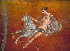 Ancient Roman painting from theVilla of the Mysteries, Italy, 60-50 BC