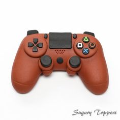 Personalised handcrafted playstation 4 controller cake topper for cake decorating Control Playstation, Playstation Cake, Xbox, Fondant Bow, Fondant Toppers, Fondant Tutorial, Ps4 Cake, 12th Birthday Cake, Video Game Cakes