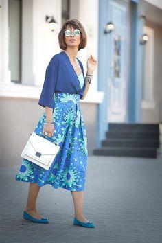 summer street style, blue in fashion , summer styles, loeffler randall bag, ellena galant