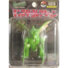 "Pokemon 2004 Scyther Tomy 2"" Monster Collection Plastic Figure #123"