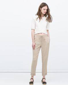 Image 1 of DRAWSTRING WAIST TROUSERS from Zara