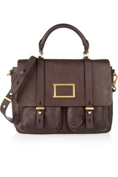 Marc by Marc Jacobs | Werdie textured-leather messenger bag | NET-A-PORTER.COM