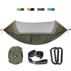 Intelligent Portable 1-2 Person Outdoor Hammock Camping Hanging Sleeping Bed With Mosquito Net Garden Swing Relaxing Parachute Hammock Fragrant Aroma Sleeping Bags