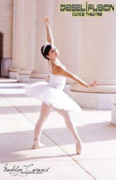 Ballet dancer wearing Lilien Czech Jewelry