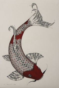 Pen and Ink Koi  Print of Original by InkPenArt on Etsy, $75.00