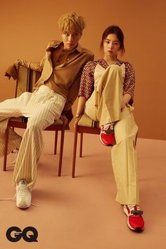 GQ Magazine's April issue features pictorials of SM Entertainment groups SHINee and Red Velvet members Taemin and Irene, respectively. Exo Red Velvet, Red Velvet Irene, Kpop Couples, Cute Couples, Korean Couple Photoshoot, Photoshoot Pics, Shinee Taemin, Gq Magazine, Fashion Couple