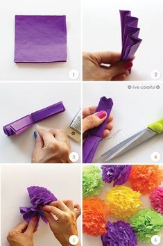 How to Make Paper Flowers | Live Colorful