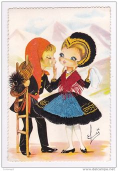 """A couple from Savoie, """"infantil"""" serie"""