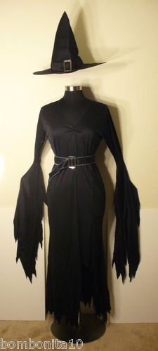 Sexy Gothic Elegant Witch, Complete Dress, Hat, Belt, NEW Adult Size M (10-14) $29.99
