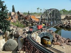 Tour model train displays at the Arizona Model Railroading Society on weekend afternoons. October through April.